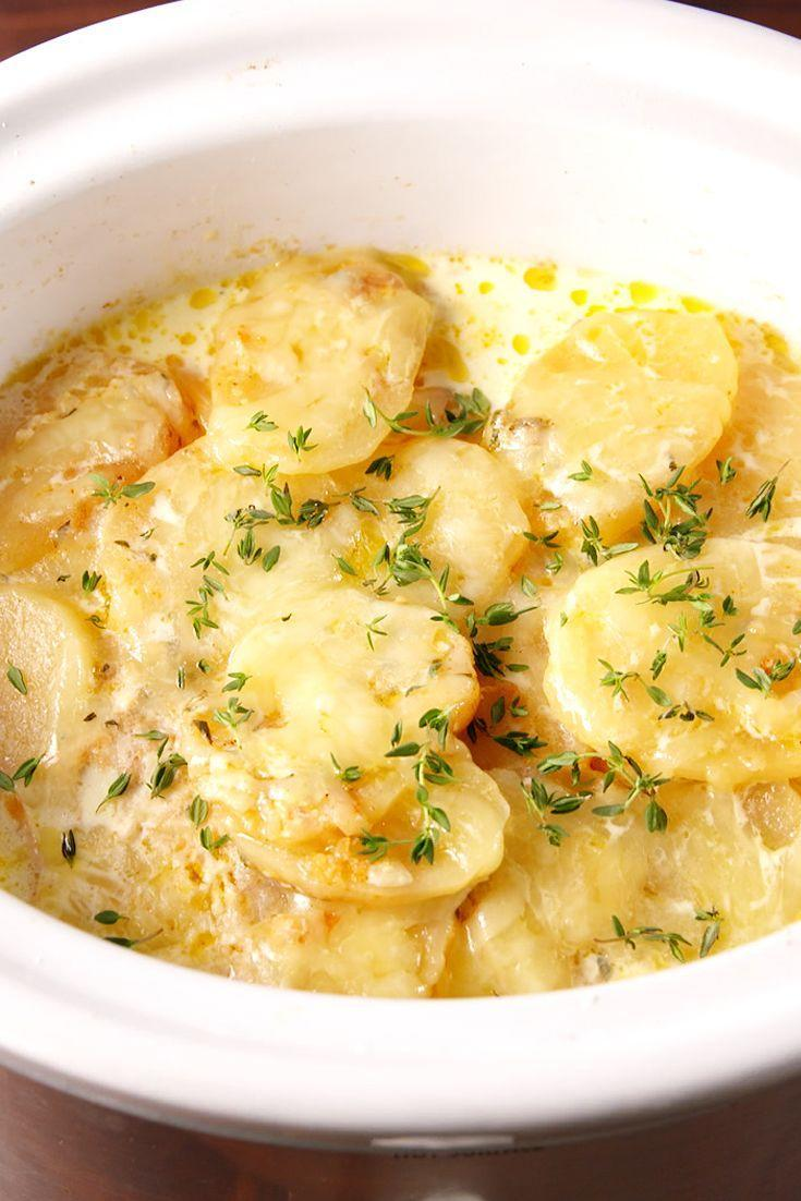 """<p>It ain't easy bein' cheesy (unless we're talking about these scalloped potatoes)...</p><p>Get the recipe from <a href=""""https://www.delish.com/cooking/recipe-ideas/recipes/a52475/slow-cooker-scalloped-potatoes-recipe/"""" rel=""""nofollow noopener"""" target=""""_blank"""" data-ylk=""""slk:Delish"""" class=""""link rapid-noclick-resp"""">Delish</a>.</p>"""