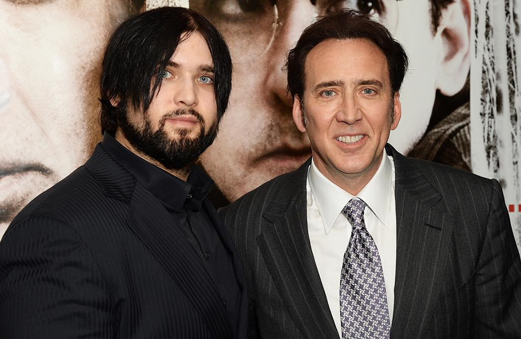 LONDON, ENGLAND - JULY 17:  Weston Cage and Nicolas Cage attend the UK premiere of 'The Frozen Ground' at The Vue Leicester Square on July 17, 2013 in London, England.  (Photo by Dave J Hogan/Getty Images)