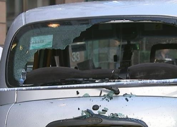 Taxi blown up after terror scare outside Gherkin