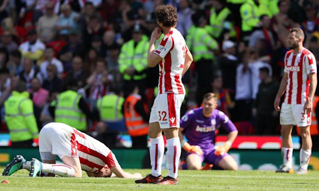 Stoke slumping their way into the Championship.