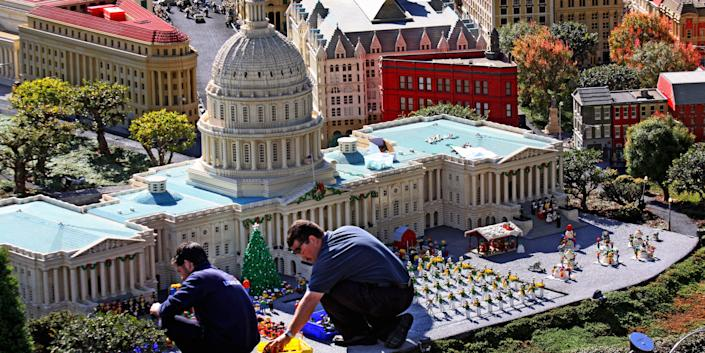 US Capitol made of LEGO