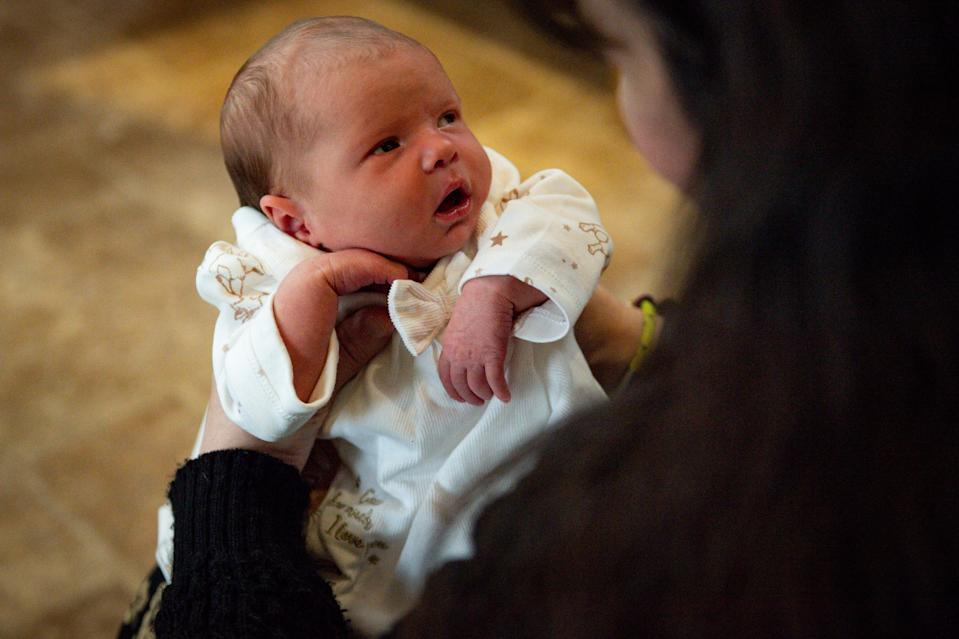 Baby Ethel was born in the same hospital Rebecca works as a nurse [Photo: PA]