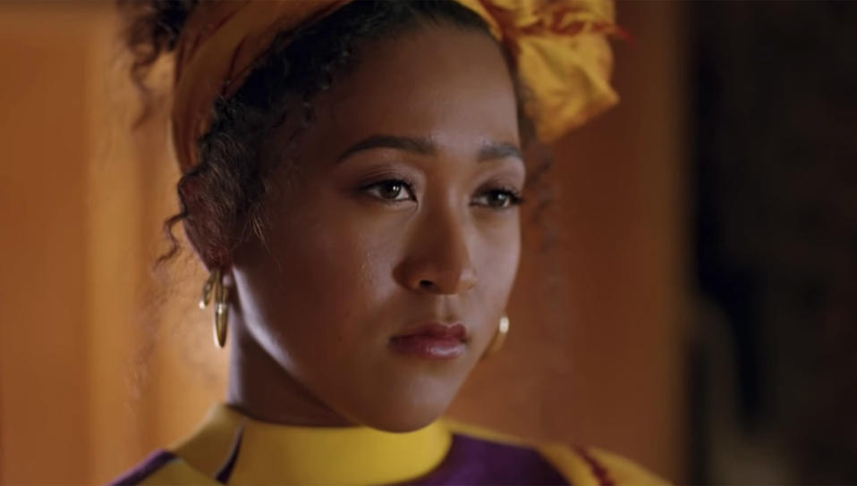Tennis pro Naomi Osaka is among the star-studded cast featured in the clip. (Beats by Dre / YouTube)