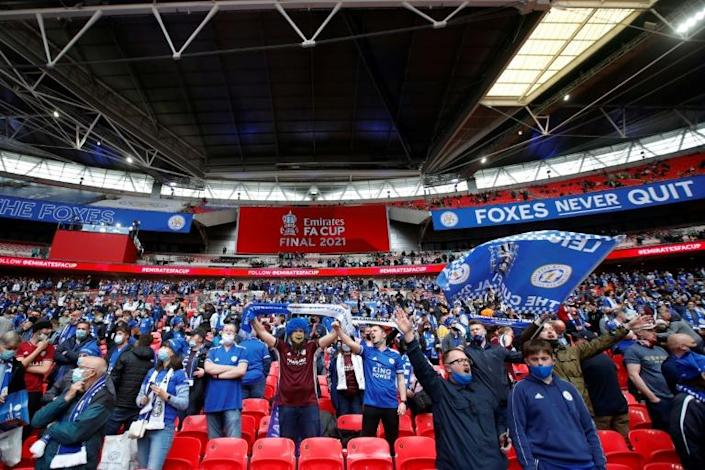 Leicester fans were able to support their side live for the first time in 14 months
