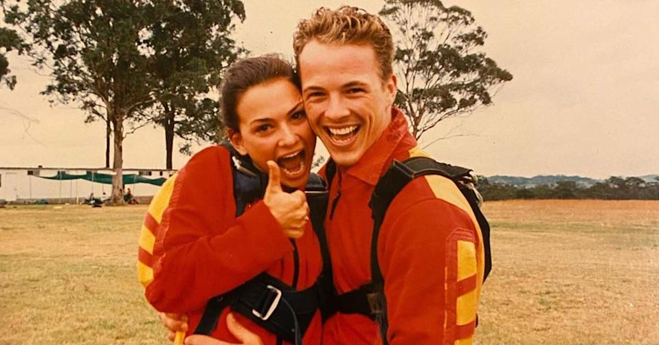 Home and Away's Kristy Wright has paid tribute to Dieter Brummer who died at the age of 45 on Saturday, revealing they secretly dated. Photo: Instagram/Kristy Wright