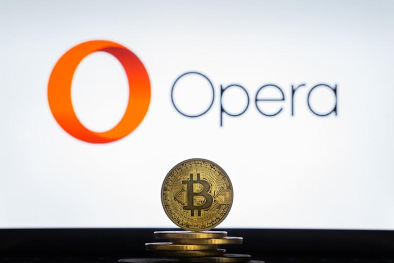 Bitcoin and TRON are now officially supported by Opera's browser. | Source: Shutterstock