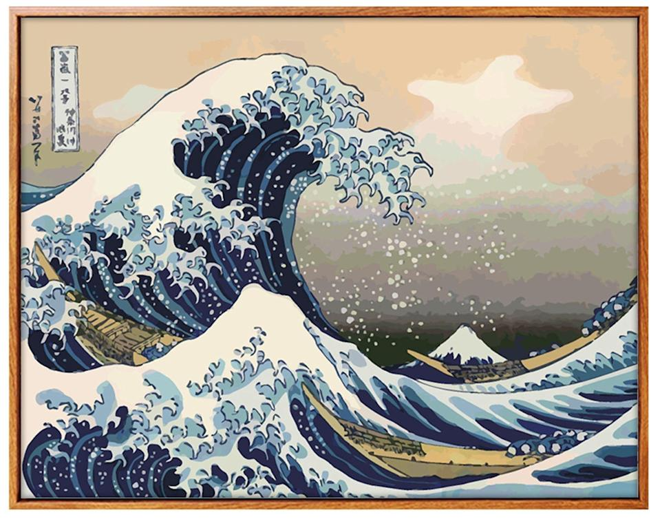 """<br><br><strong>ByMuOwnHandsCrafts</strong> The Great Wave Off Kanagawa Painting By Number, $, available at <a href=""""https://www.etsy.com/listing/775316506/the-great-wave-off-kanagawa-painting-by"""" rel=""""nofollow noopener"""" target=""""_blank"""" data-ylk=""""slk:Etsy"""" class=""""link rapid-noclick-resp"""">Etsy</a>"""