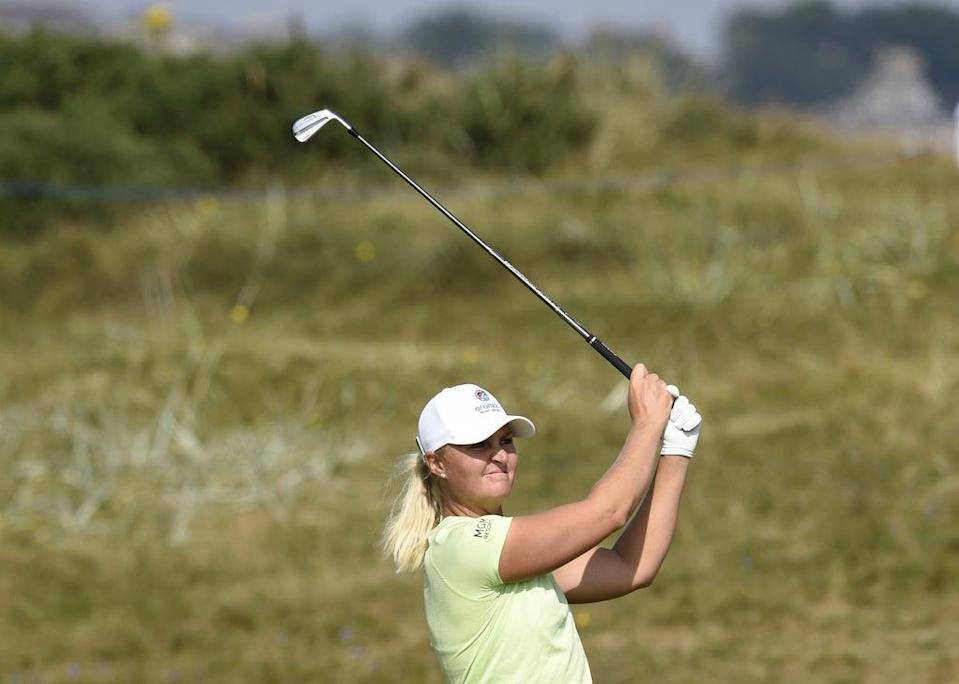 Anna Nordqvist partnered Matilda Castren to victory on the opening day of the 17th Solheim Cup (Ian Rutherford/PA) (PA Wire)