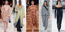 "<p class=""body-dropcap"">Based on the fall runways, the season's fashion palette is painted in essential neutrals, soft pinks, and gradients of gray, as well as the tried-and-true: head-to-toe black. Wearable and chic, these colors are set to dominate the spectrum come September. Now is the perfect time to take inspiration and update your wardrobe with the classic pieces we've curated ahead. </p><p class=""body-text"">Shop statement coats, everyday accessories, and cold-weather must-haves ideal for the forthcoming falling temperatures, and remember: Less is more this season, and investing in practical wardrobe essentials is just good sense. </p><hr>"