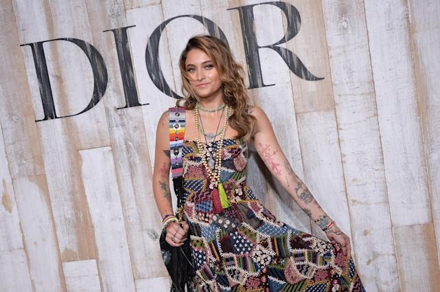Paris Jackson posed outside the show, which took place in Chantilly, France. (Photo: Francois G. Durand/WireImage)