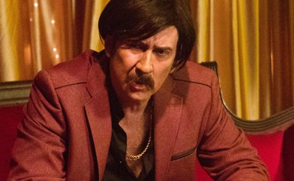 Nic Cage wore a disguise to appear in Arsenal (credit: Lionsgate Premiere)
