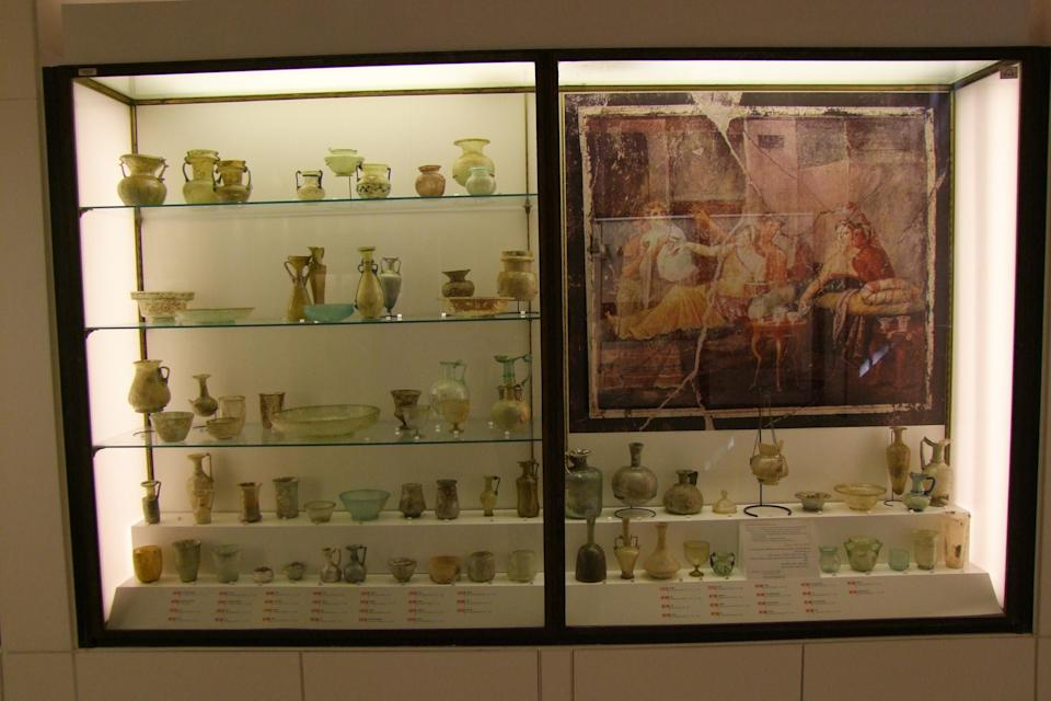 The display case before the explosion (British Museum/PA)