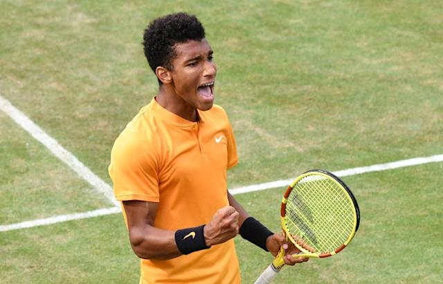 Auger-Aliassime is bidding for his first ATP title (AFP Photo/THOMAS KIENZLE)