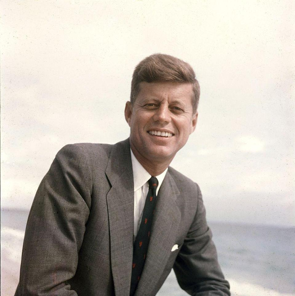 """<p>Months before <a href=""""https://www.goodhousekeeping.com/life/a46676/john-f-kennedy-assassination-files/"""" rel=""""nofollow noopener"""" target=""""_blank"""" data-ylk=""""slk:his tragic assassination"""" class=""""link rapid-noclick-resp"""">his tragic assassination</a>, President Kennedy was named National Father's Day Committee's <a href=""""https://www.momanddadday.com/about_fathers.htm"""" rel=""""nofollow noopener"""" target=""""_blank"""" data-ylk=""""slk:&quot;Father of the Year."""" class=""""link rapid-noclick-resp"""">""""Father of the Year.</a>"""" His was a father of two — Caroline, born 1957, and John, born 1960.</p>"""