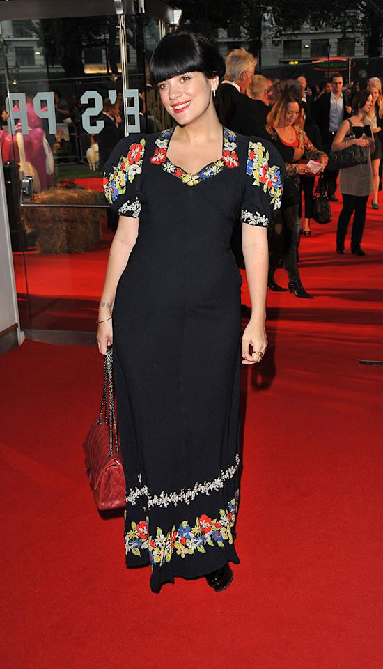 """<a href=""""http://movies.yahoo.com/movie/contributor/1808880675"""">Lily Allen</a> at the London premiere of <a href=""""http://movies.yahoo.com/movie/1810117609/info"""">Tamara Drewe</a> - 09/06/2010"""