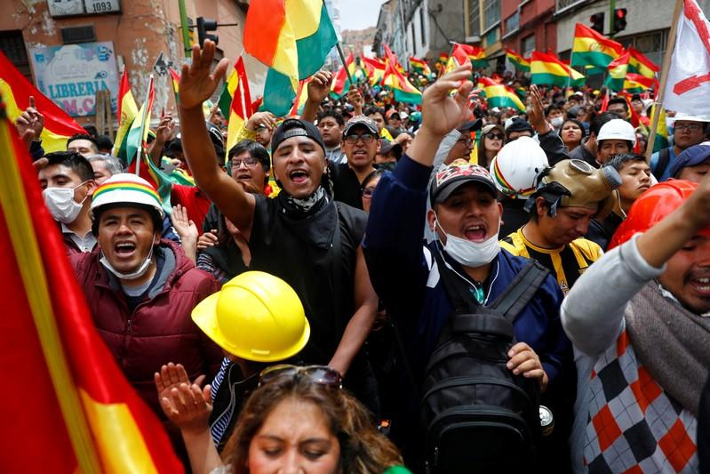 Protest against Bolivia's President Evo Morales in La Paz