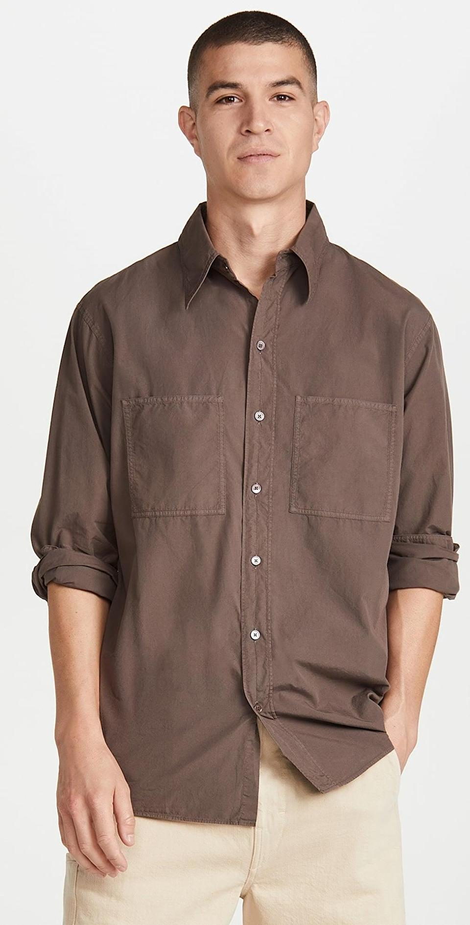 <p>We can't think of anything more laidback than this <span>Lemaire Patch Pocket Shirt</span> ($310). Whether you're giving a work presentation or catching up at home with friends, it looks so cool and semi-dressy.</p>