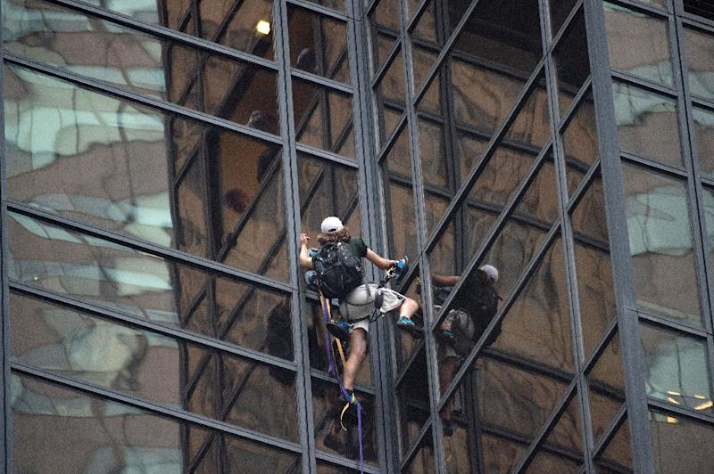 New York police arrest man trying to climb Trump Tower