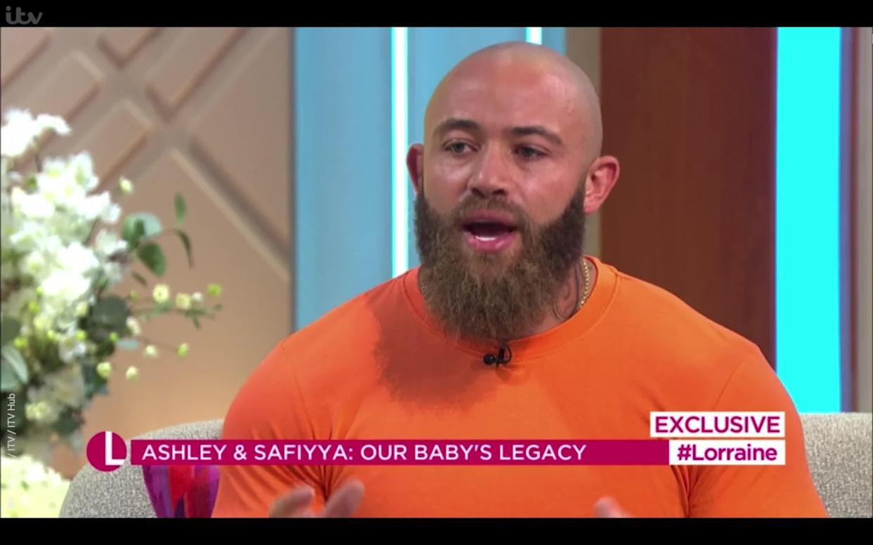 <p>Ashley Cain recalls Azaylia's cancer symptoms were almost missed as he launches foundation in late daughter's memory to help save other children from leukaemia.</p> <p>Credit: Lorraine / ITV / ITV Hub</p>
