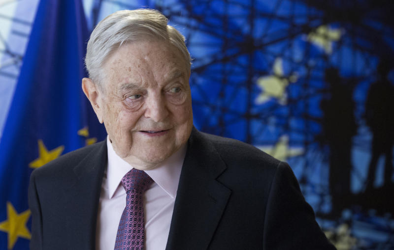 George Soros, Founder and Chairman of the Open Society Foundation. (Olivier Hoslet, Pool Photo via AP)