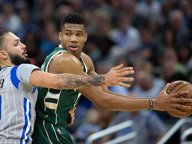 Giannis and his rather large wingspan. (Getty Images)