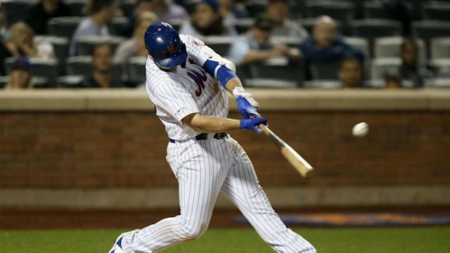 New York Mets sensation Pete Alonso went two for four at the plate with two homers and two RBIs on Monday.
