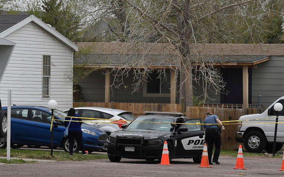 Police say the shooting happened just after midnight in a mobile home park on the east side of Colorado Springs - Jerilee Bennett/The Colorado Springs Gazette via AP