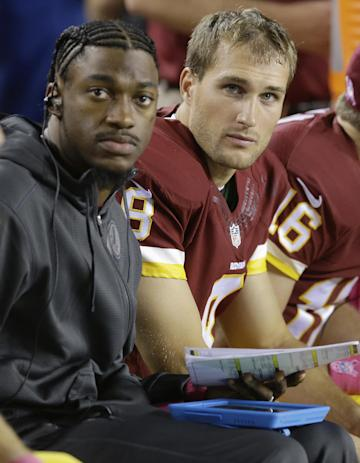 RG3 is first in line in the Redskins' QB pecking order. (AP)