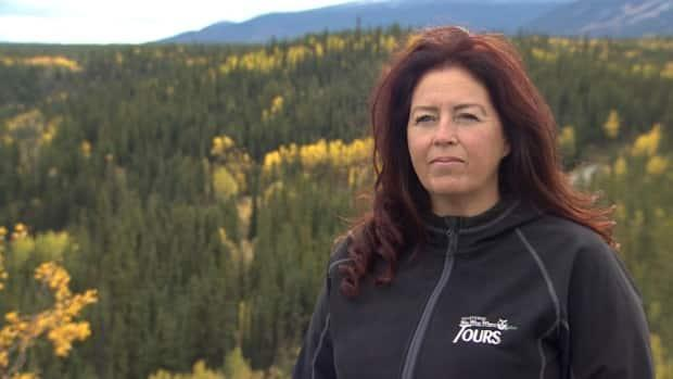 Teena Dickson is the owner of Dickson Outfitters and its division Whitehorse Who What Where Tours. She pivoted her business last summer due to the COVID-19 pandemic. (Steve Silva/CBC - image credit)