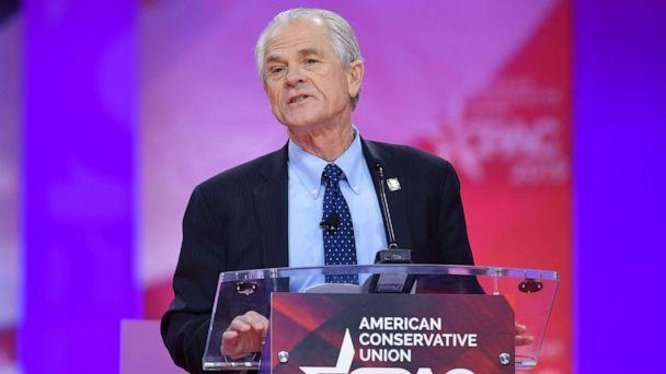 PHOTO: White House Director of Trade and Industrial Policy Peter Navarro speaks during the annual Conservative Political Action Conference (CPAC) in National Harbor, Maryland, on March 1, 2019. (Mandel Ngan/AFP/Getty Images)