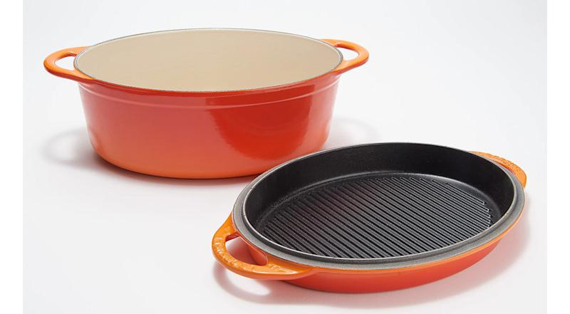 Le Creuset Oval Oven with Grill Pan Lid (Photo: Amazon)