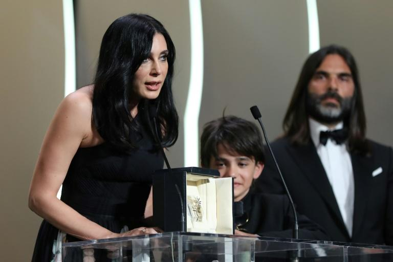 "Lebanese director and actress Nadine Labaki (L), who won the Jury Prize at the Cannes film festival, will present her award-winning film   ""Capharnaum"" at the London festival which is championing female directors this year"