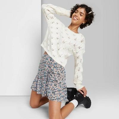 <p>If spring was a skirt, it would probably be this <span>Wild Fable Ruched Mini Skirt</span> ($14, originally $17).</p>