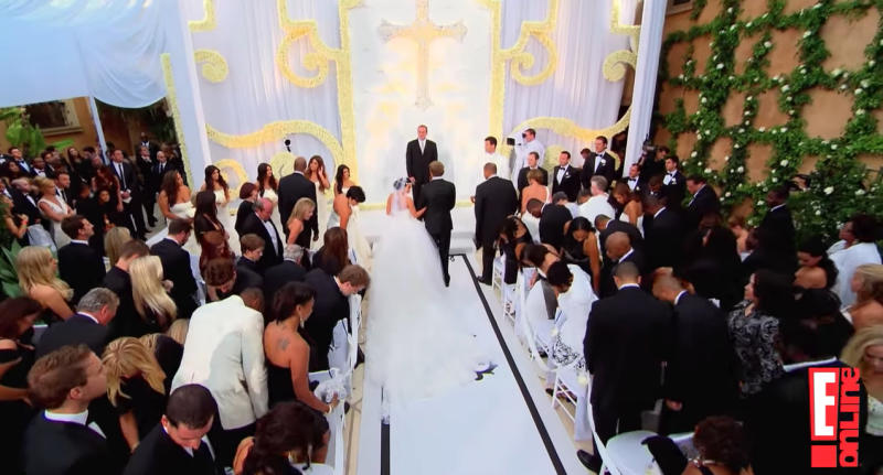 Cameras rolled as Kim Kardashian and Kris Humphries married. (Photo: E! Entertainment via YouTube)