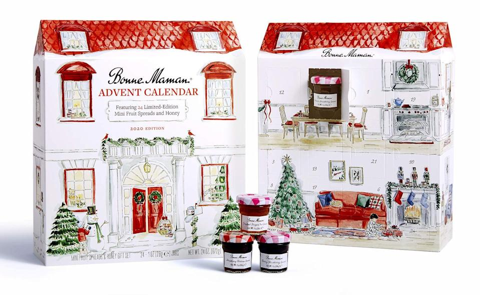 "<h3>Bonne Maman 2020 Advent Calendar<br></h3><br>Are you ready for this jelly? If you have a thing for tiny jars of French preserves, then your day just got way better: Upgrade your breakfast game with this Bonne Maman advent calendar, which has consistently sold-out year after year.<br><br><strong>Bonne Maman</strong> 2020 LIMITED EDITION Advent Calendar, $, available at <a href=""https://amzn.to/34a7tDT"" rel=""nofollow noopener"" target=""_blank"" data-ylk=""slk:Amazon"" class=""link rapid-noclick-resp"">Amazon</a>"