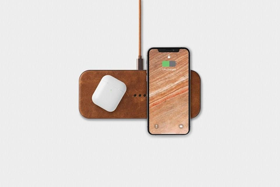 <p>Charge more than one device at a time with this sleek, handcrafted <span>Courant Catch:2</span> ($150). This stunning wireless charger comes in four other looks and is perfect for your night stand, home office, or any common areas in your home so the family can stay charged.</p>