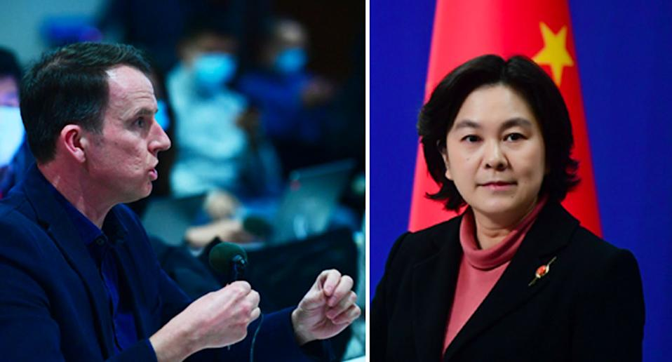 BBC correspondent John Sudworth pressed Hua Chunying over China's persistent coverage suggesting the virus originated from outside of China. Source: FMPRC