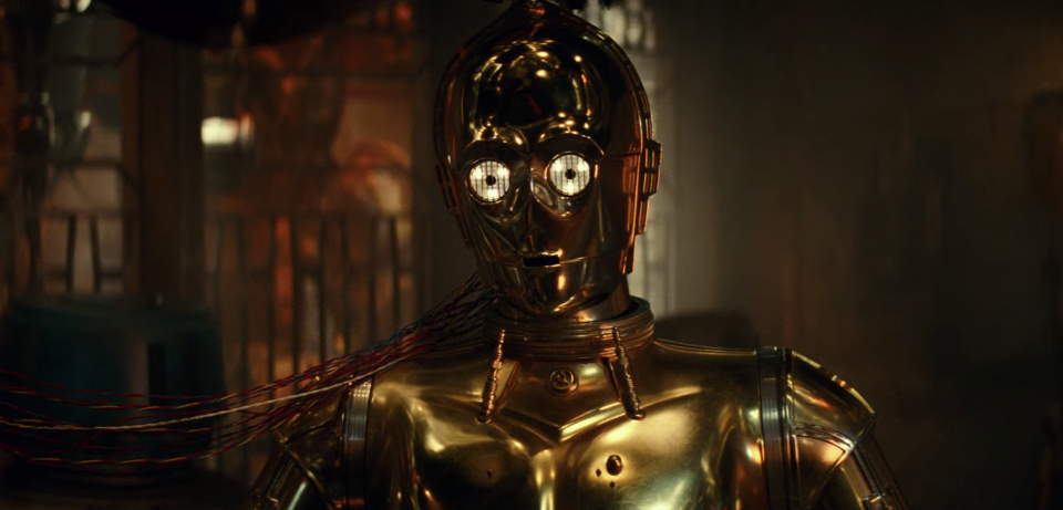 Is C-3PO doomed? The 'Star Wars' fixture could be making his final appearance in 'The Rise of Skywalker.' (Photo: Lucasfilm)
