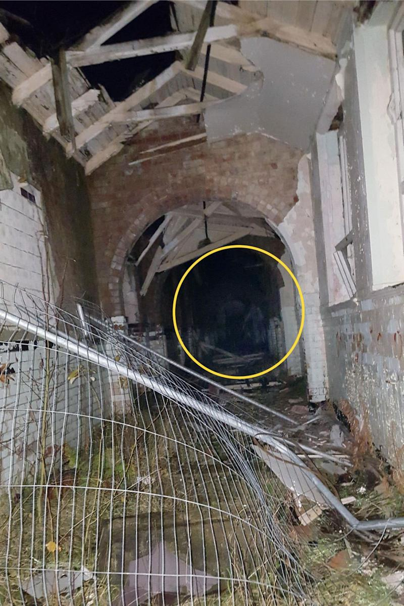 It was only later Kyla spotted the eerie figure in her photo. Photo: Caters News