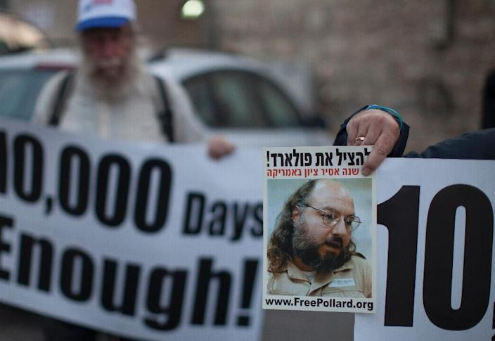Jonathan Pollard, a Jewish American, was jailed for life in 1987 on charges of spying for Israel on the United States (AFP Photo/Ahmad Gharabli)