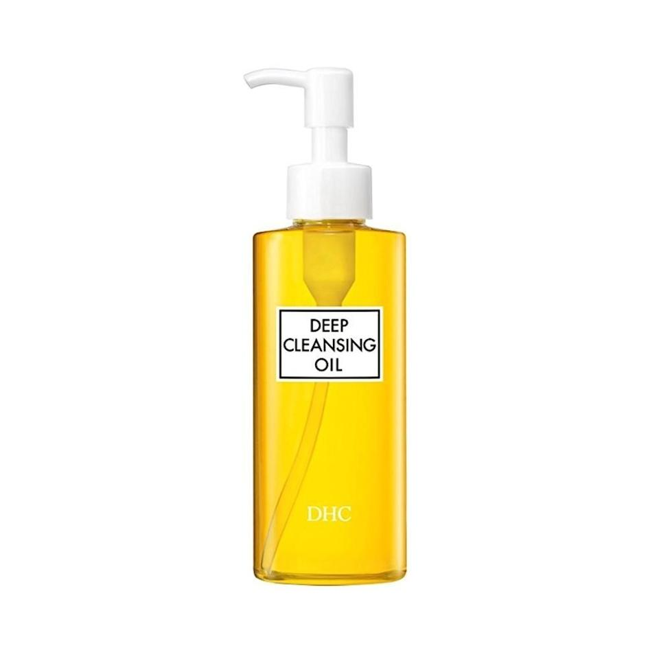 """<p>I always start with <a href=""""https://www.self.com/story/dhc-deep-cleansing-oil-review?mbid=synd_yahoo_rss"""">DHC's Deep Cleansing Oil</a> to double cleanse when I take off my makeup. I still need another cleanser to get everything off since it's not powerful enough to swipe away makeup like waterproof mascara, but it <em>is</em> gentle enough for me to open my eyes midway through the cleansing process when I need to take a break.</p> <p><strong>Buy it:</strong> $16 (originally $20), <a href=""""https://www.skinstore.com/dhc-deep-cleansing-oil/11207442.html"""" rel=""""nofollow"""">skinstore.com</a></p>"""
