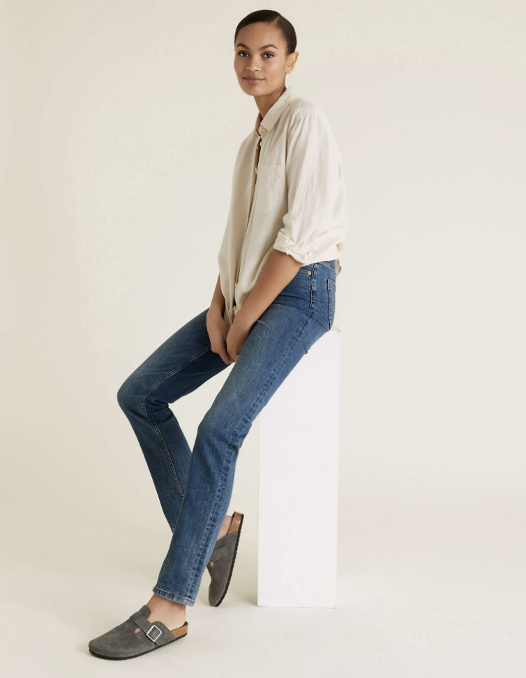 The affordable straight leg jeans are flattering and comfortable. (Marks & Spencer)