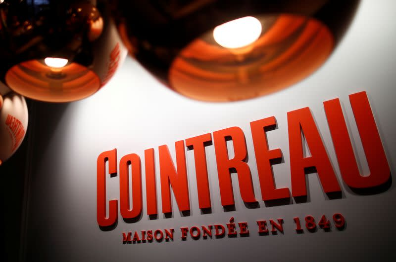 The logo of Cointreau is seen at the Carre Cointreau in the Cointreau distillery in Saint-Barthelemy-d'Anjou near Angers