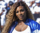 "FILE - In this Aug. 20, 2019, file photo, Serena Williams attends the Nike ""Queens of the Future"" tennis event in New York. The Associated Press asked eight of the greatest current and former champions, including Williams, from seven different sports to find out what impressed them most about Tom Brady. (Photo by Charles Sykes/Invision/AP, File)"