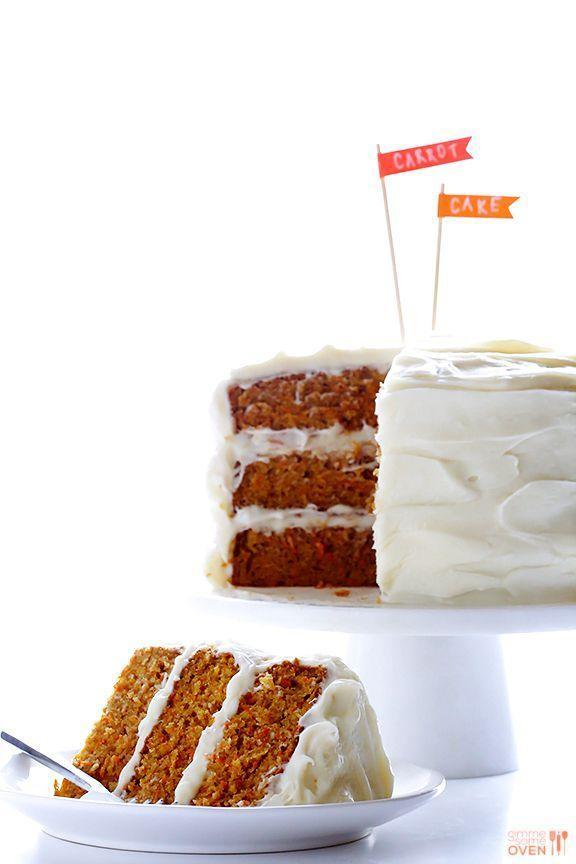 """<p>Mom knows you can't top cream cheese frosting — no questions asked.</p><p><em><a href=""""https://www.gimmesomeoven.com/best-carrot-cake/"""" rel=""""nofollow noopener"""" target=""""_blank"""" data-ylk=""""slk:Get the recipe from Gimme Some Oven »"""" class=""""link rapid-noclick-resp"""">Get the recipe from Gimme Some Oven »</a></em></p>"""