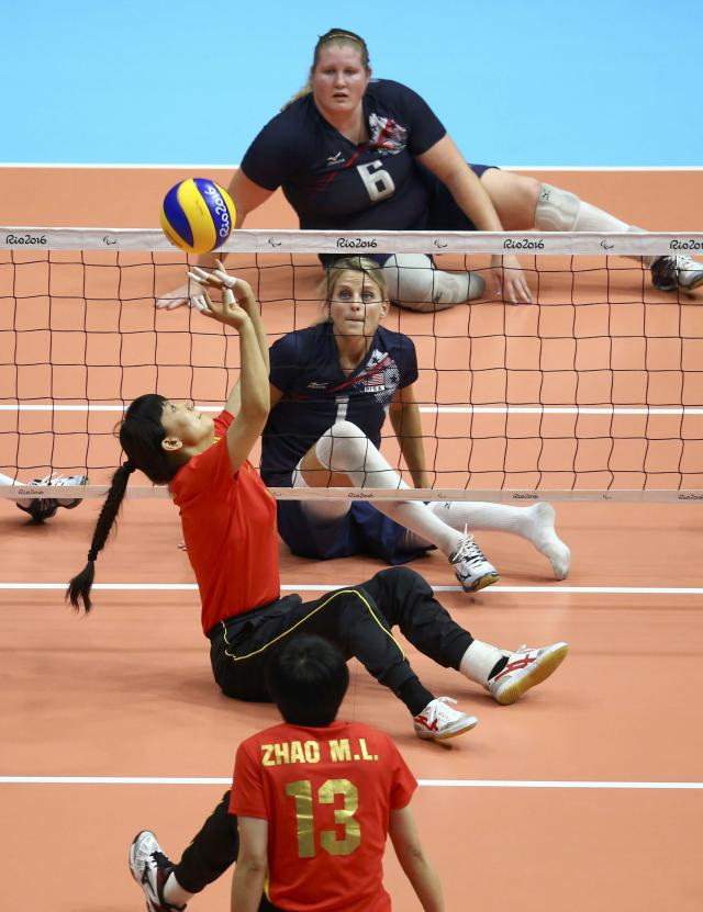 2016 Rio Paralympics - Sitting Volleyball - Final - Women's Gold Medal Match - Riocentro Pavilion 6 - Rio de Janeiro, Brazil, 17/09/2016. Su Limei (CHN) of China in action. REUTERS/Pilar Olivares FOR EDITORIAL USE ONLY. NOT FOR SALE FOR MARKETING OR ADVERTISING CAMPAIGNS.
