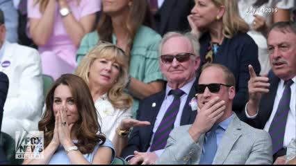 The royal mom of three was present for the match between Roger Federer and Novak Djokovic along with her husband, Prince William.