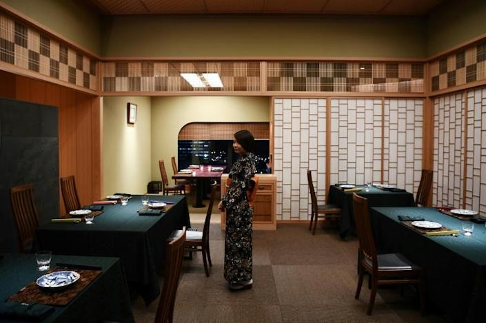 """The chef feels he has an almost patriotic duty to carry on the tradition of Japanese cuisine, describing it as a """"national job"""" (AFP Photo/CHARLY TRIBALLEAU)"""