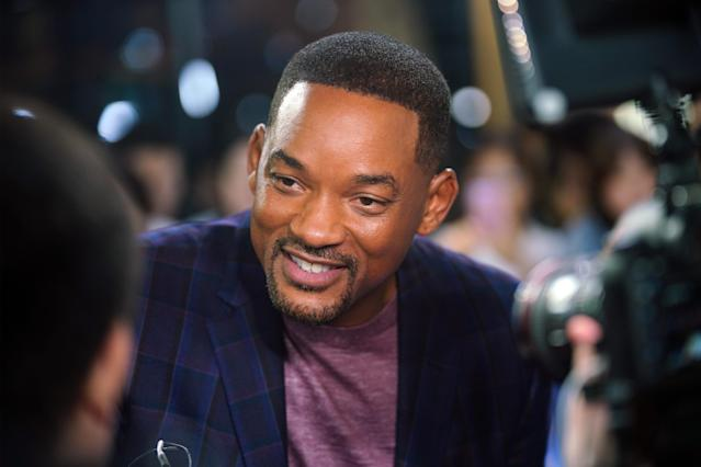 Actor Will Smith attends the premiere of film 'Gemini Man' on October 14, 2019 in Shanghai, China. (Photo by VCG/VCG via Getty Images)