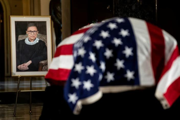 Body of late Justice Ruth Bader Ginsburg lies in state at U.S. Capitol